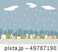 雨の街並み 49787190