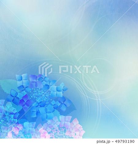 和-和紙-和風-和柄-水彩-梅雨-紫陽花-背景 49793190