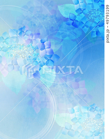 和-和紙-和風-和柄-水彩-梅雨-紫陽花-背景 49793199