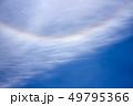 日暈と飛行機雲 49795366