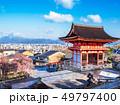 清水寺から望む京都の町並み 49797400