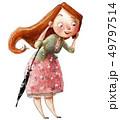 女性 メス 愛のイラスト 49797514