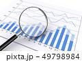 ビジネス資料を虫眼鏡で詳しく調べる 49798984