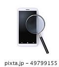 スマートフォンと虫眼鏡 49799155