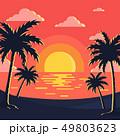 Sunset & Beach Background 49803623