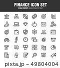 ファイナンス アイコン 組み合わせのイラスト 49804004