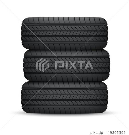 Realistic car wheel tyre 49805593