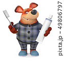 3d illustration Funny dog in pajamas 49806797