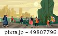 ウォーキング 歩く 歩行のイラスト 49807796