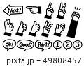 手 アイコン ハンドサインのイラスト 49808457