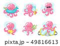 Octopus cartoon style  49816613