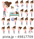 Bun hair mom Pants style_sickness 49817709