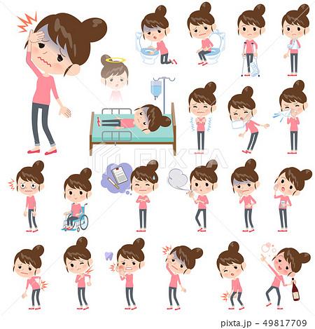 Bun hair mom Pants style_sickness 49817709