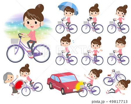 Bun hair mom Pants style_city cycle 49817713