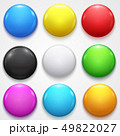 Realistic Color Blank Circle Button Badge Set 49822027
