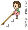 妊婦さん 階段が怖い 49823148