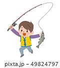 魚を釣った男の子 49824797