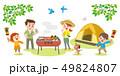 バーベキュー 家族 キャンプのイラスト 49824807