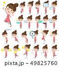 エプロン 主婦 女性のイラスト 49825760