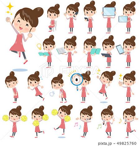 Ballet Bun hair Apron mom_Action 49825760