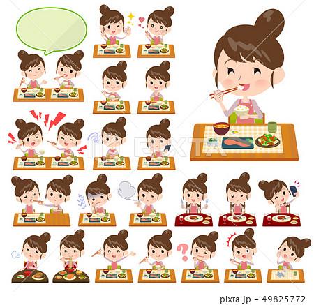 Ballet Bun hair Apron mom_Meal 49825772