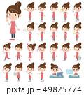 エプロン 主婦 女性のイラスト 49825774