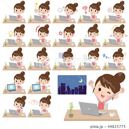 Ballet Bun hair Apron mom_desk work 49825775