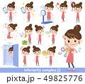 エプロン 主婦 女性のイラスト 49825776