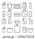 Fastfood packing icons 49827628
