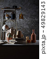 Ceramic studio equipment for craft work with clay. 49829143