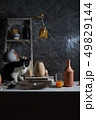 Ceramic studio equipment for craft work with clay. 49829144