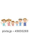ポップな3世代家族 夏服ではーい! 49830269