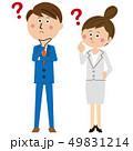 スーツ ビジネスマン ビジネスウーマンのイラスト 49831214