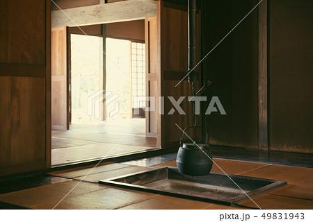日本の昔の家。 屋内。 伝統的な日本の家。 49831943