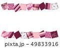 パッチワーク生地 6月 背景素材 ポストカード紫 49833916