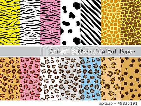動物柄のシームレスパターンセットのイラスト素材 [49835191] - PIXTA