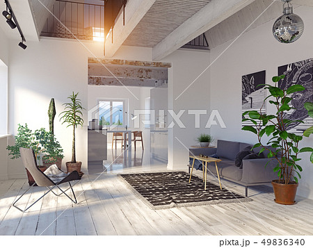 modern house interior. 49836340