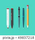 ペン ふで ボールペンのイラスト 49837218