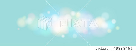Bright Colored Lights on Mint Blue Background 49838469