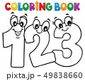 Coloring book cartoon numbers image 1 49838660