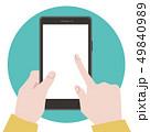 スマホ スマートフォン 操作のイラスト 49840989