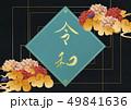 令和 牡丹 元号のイラスト 49841636