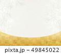 和を感じる背景素材-竹-笹-金-市松模様 49845022