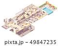 Vector isometric hotel interior 49847235