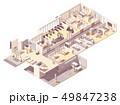 Vector isometric hotel interior 49847238