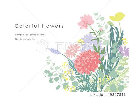 花束シルエットテンプレート 49847851