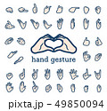 calm type_hand gesture 49850094