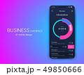 インフォグラフィック モバイル デジタルのイラスト 49850666