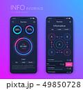 インフォグラフィック モバイル デジタルのイラスト 49850728