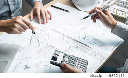 Team of engineering or architect meeting and 49852115